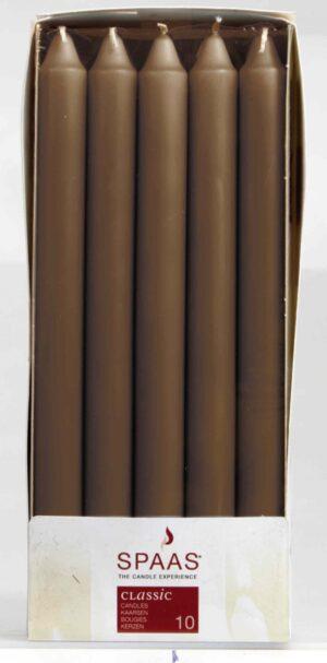 Krooniküünal 24cm 8h hallikaspruun 10tk