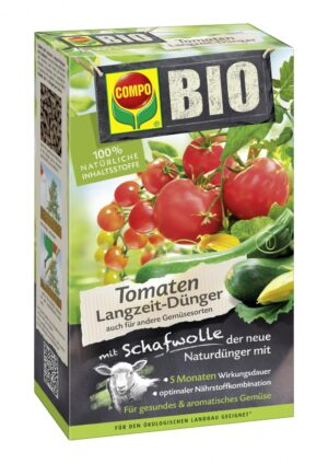 BIO pikaajaline tomativäetis lambavillaga Compo 750g