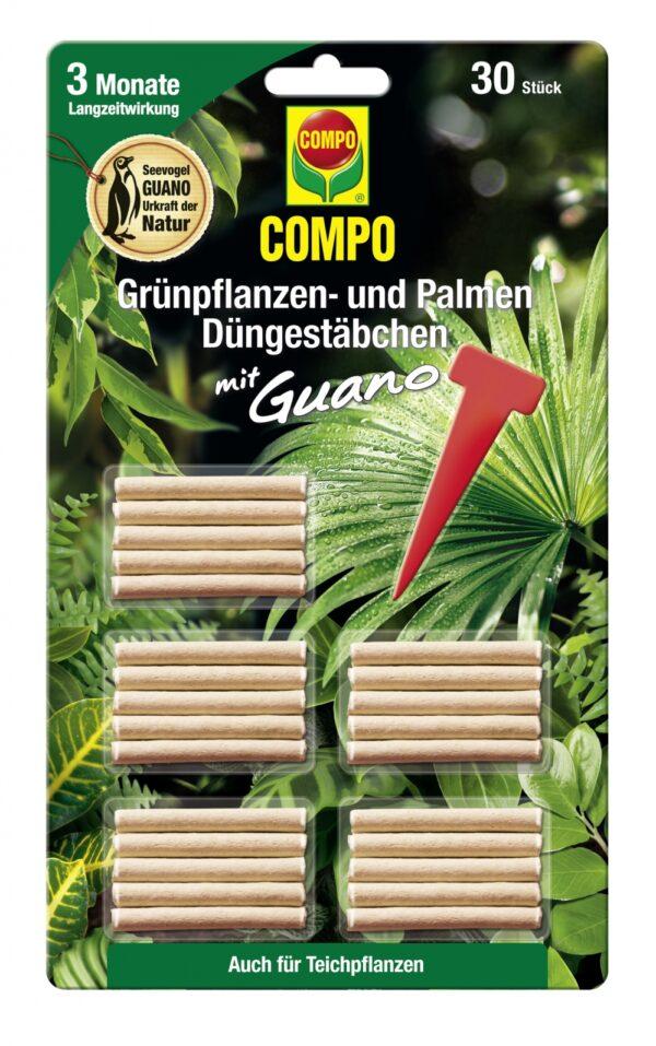 Väetisepulgad rohelistele taimedele Compo 30tk/lehel