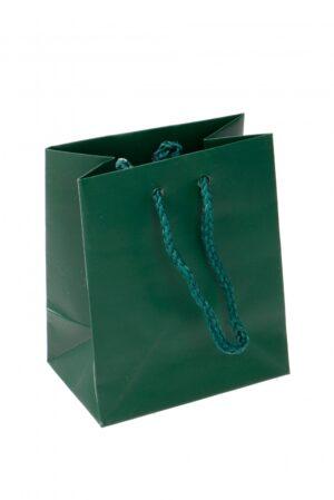 Kinkekott 10 x 6;5 x 12cm tume roheline