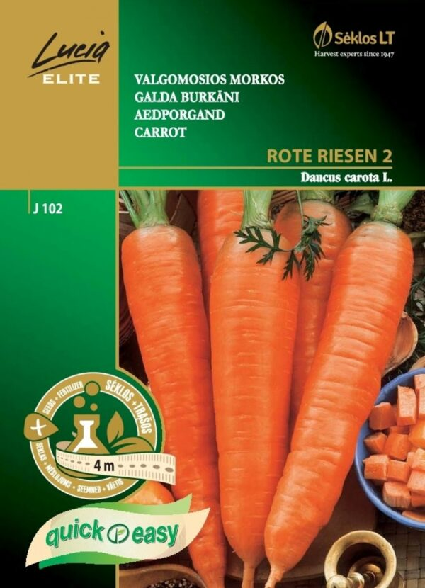 Porgand Rote Riesen 2 lindil - Daucus carota L.