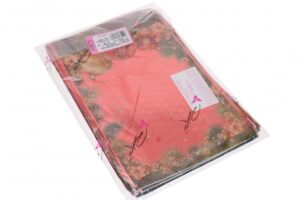Kinkekott Traditionelle läbipaistev-värviline 35my 22;5 x 35cm punane 100tk