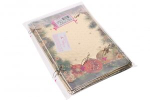 Kinkekott Traditionelle läbipaistev-värviline 35my 22;5 x 35cm kuldne 100tk