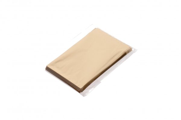 Kinkekott kleepribaga 10 x 15cm + 2;5cm kuld 50tk/pakis