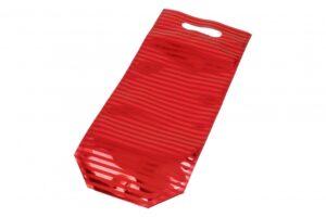 Kinkekott sulguriga pudelile 180 x 375mm + 55 x 100mm punane triip 12tk/pakis