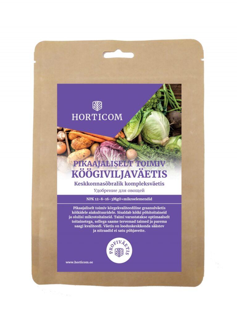 Pikaajaliselt toimiv köögiviljaväetis Horticom 1kg