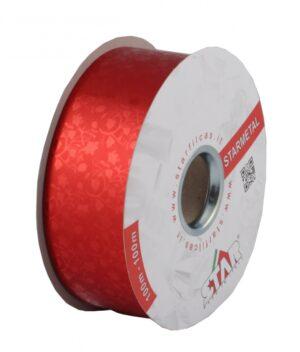 Metallpael 50mm x 100m lilledega punane