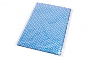Kinkekott fooliumist 25 x 40cm sinine hõbe rombid ja tähed 50tk/pakis