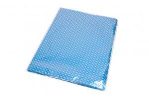 Kinkekott fooliumist 35 x 50cm sinine hõbedased rombid ja tähed 50tk/pakis