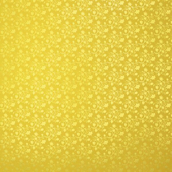 Pakkekile 100cm x 25m kollasel põhjal õrn lill